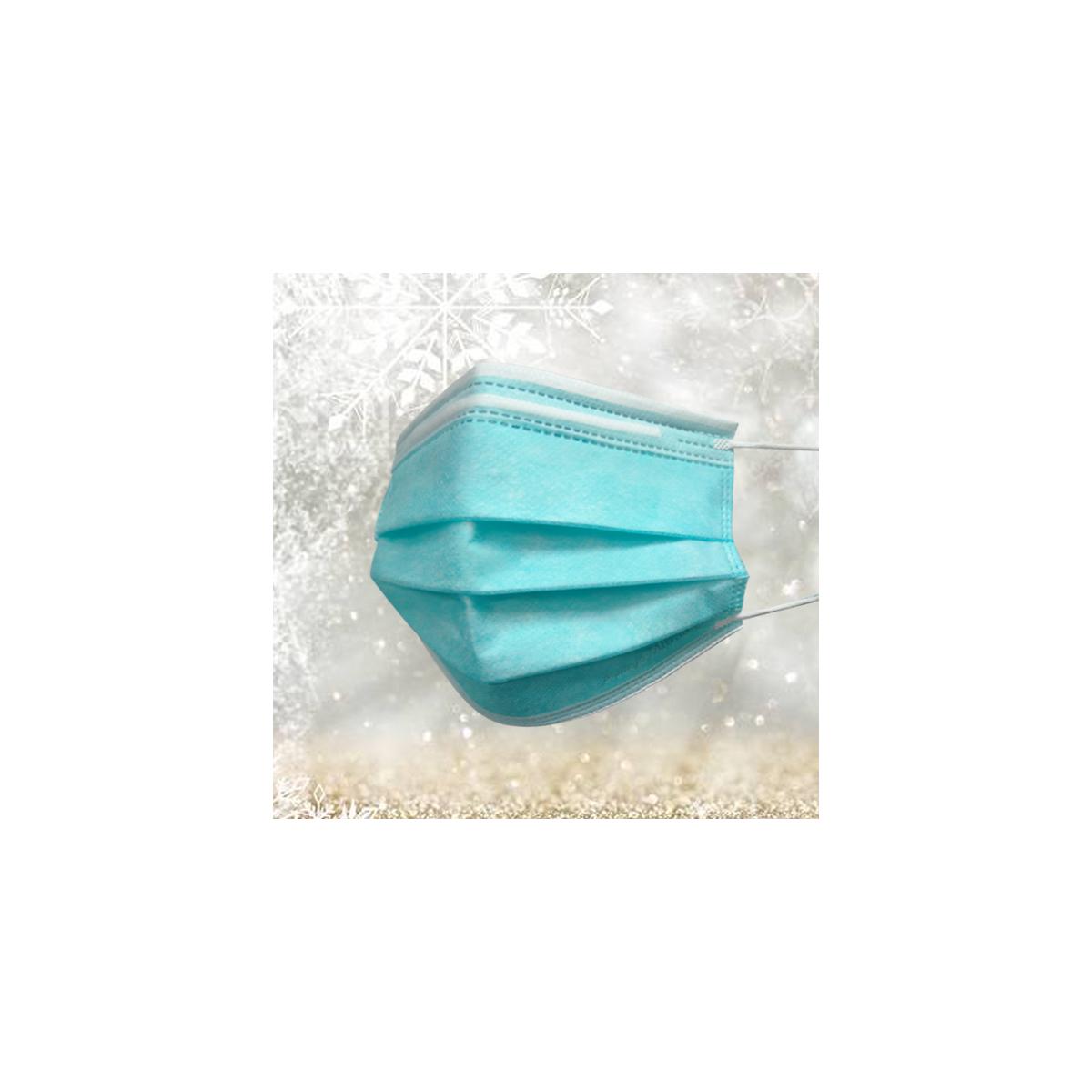 Masque bleu turquoise