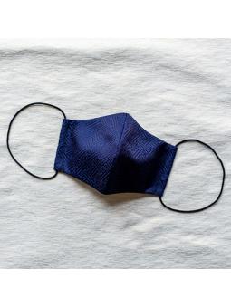Masque en tissu japonais traditionnel Asanoha bleu marine