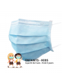 Masque chirurgicale enfants bleu